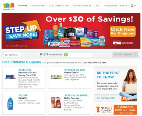 good website for printable grocery coupons 10 best coupon websites to save money online freemake