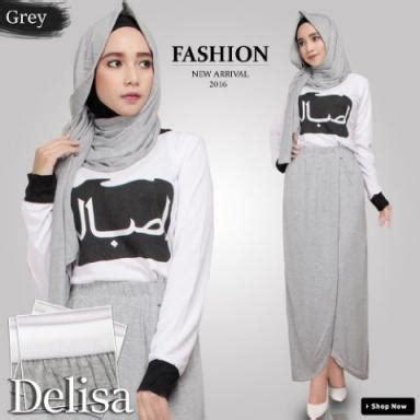 Baju 3in1 Muslim jual harga br9283 d34 baju muslim delisa 3in1