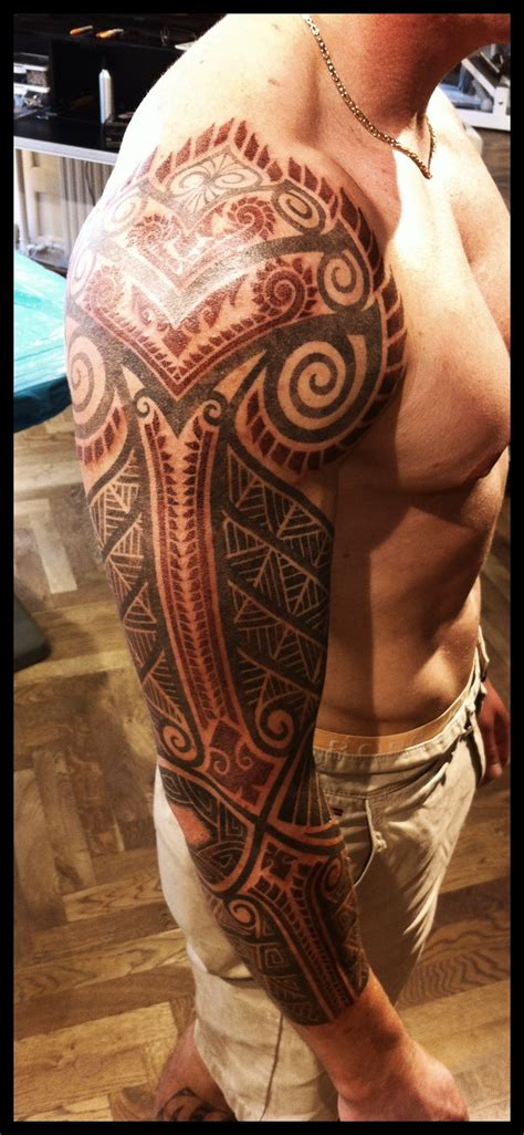 tribal tattoo half sleeve cost celtic and bali inspired sleeve by meatshop tattoo on