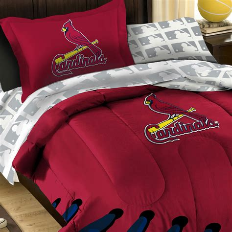 3pc mlb st louis cardinals baseball twin full comforter set