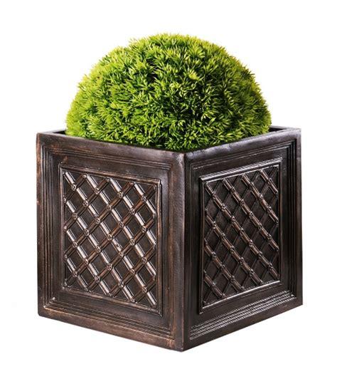 Cube Planter by Fibreglass Lattice Cube Planter 32cm Factory Seconds