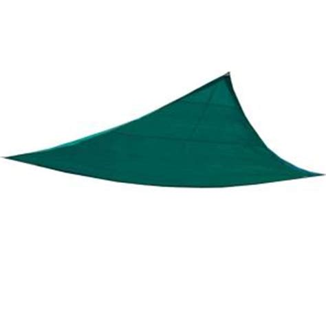 king canopy 10 ft w x 10 ft d green triangle sun shade