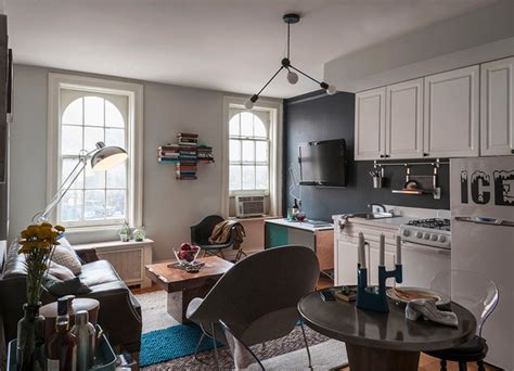 my houzz bachelor s nyc pad contemporary kitchen west village bachelor pad eclectic living room new