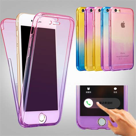 Iphone 5 5s 5se Cover Casing Silikon Soft Keren Gaul for iphone 7 6s cases protect rainbow 360 tpu silicone soft protective