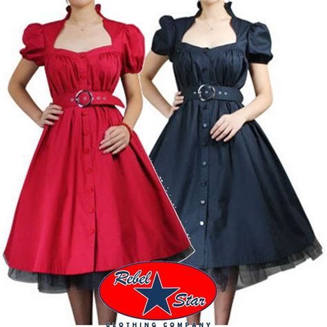 rockabilly swing dress belted ruffle dress rockabilly swing 50s 40s retro tattoo
