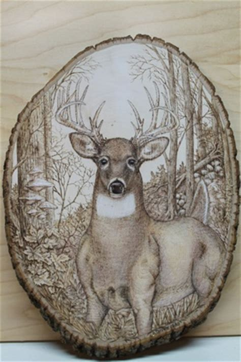 wood burning deer buck wood burning art wood burning wood