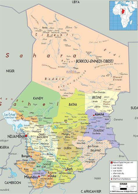 political map of nigeria ezilon maps detailed political map of chad ezilon maps