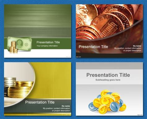 Coins Bank Savings Allowance Background Free Powerpoint Templates Powerpoint Templ Powerpoint Challenge Coin Template