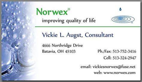 Norwex Business Cards