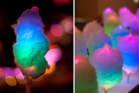 Glowing cotton candy featured in our roundup of diy projects that