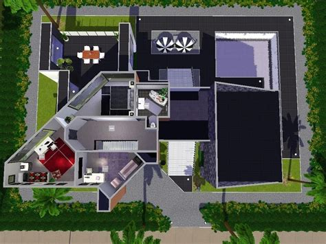 sims 3 modern house floor plans awesome modern house plans sims 3 new home plans design