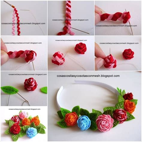 How To Decorate Headbands by Decorate Your Headband With These Awesome Ric Rac Roses