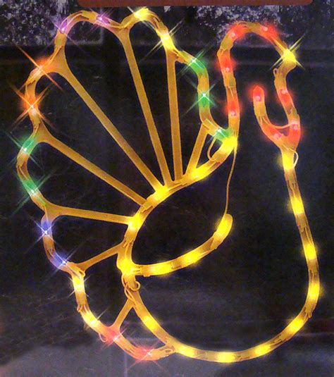 17 quot lighted thanksgiving turkey window silhouette decor ebay
