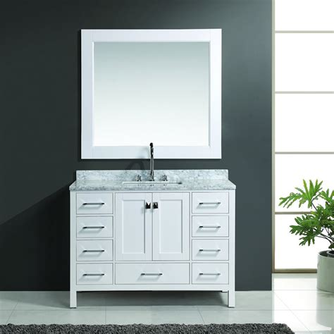 Design Element Bathroom Vanity by Design Element 48 Quot Single Sink Bathroom Vanity W Mirror White Dec082c W J Keats