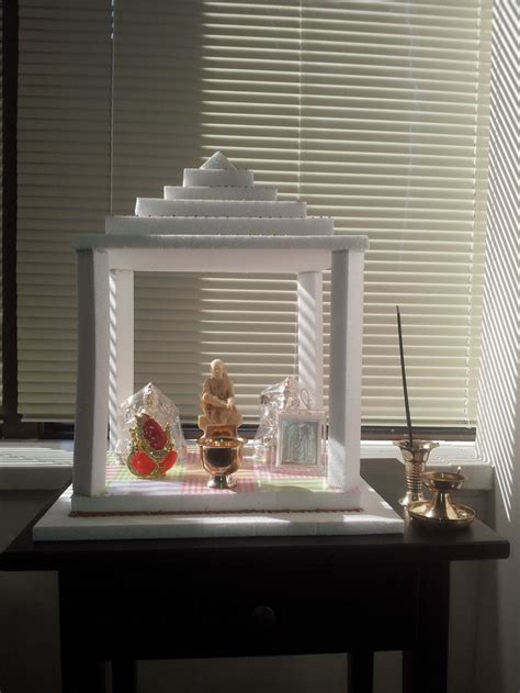 mandir decoration at home pooja mandir made out of thermocol my art world