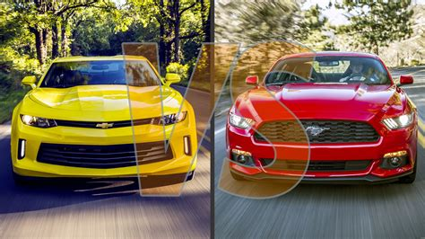whats better a mustang or camaro 2016 chevrolet camaro vs 2016 ford mustang new speed cars