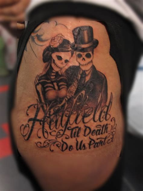 day of the dead couple tattoos chris black eyecandy tattoos in new orleans louisiana