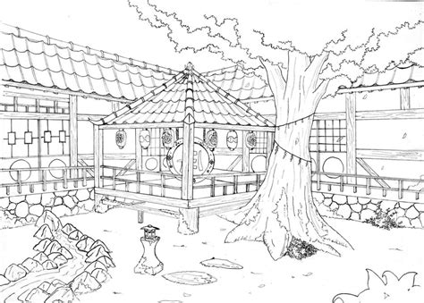 japanese garden coloring page japanese garden coloring pages coloring pages