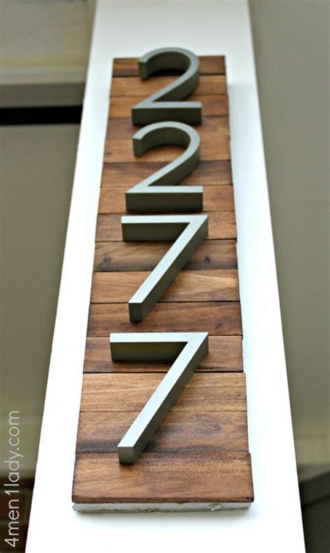 a clever and easy diy project to make your house numbers