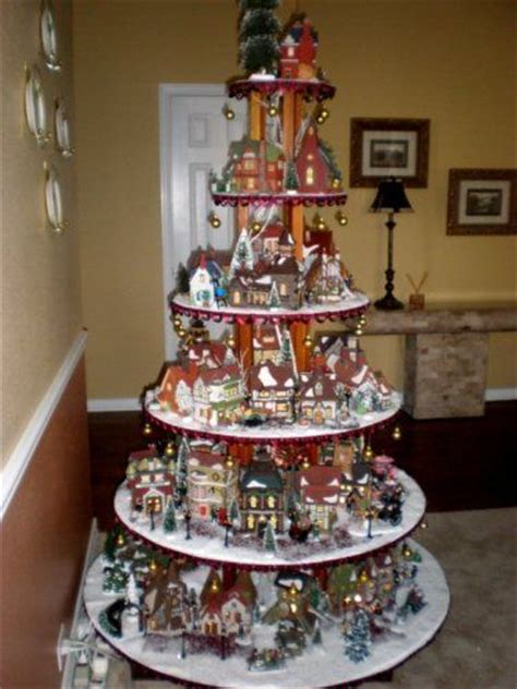 measurements christmas tree village display 1000 images about on villages plaster and
