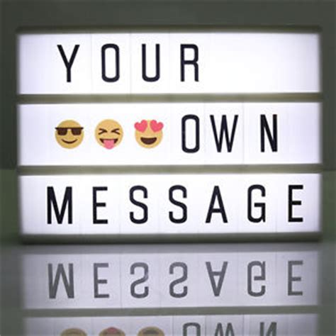 message board light up a6 cinematic cinema light up letter box sign lightbox diy