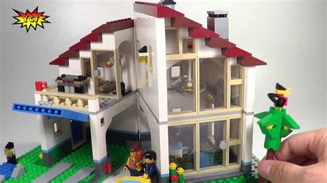 lego creator family house lego family house review 2013 creator summer set lego 31012 youtube