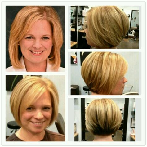 before and after pictures of bob haircuts before and after lowlights dark brown hairs