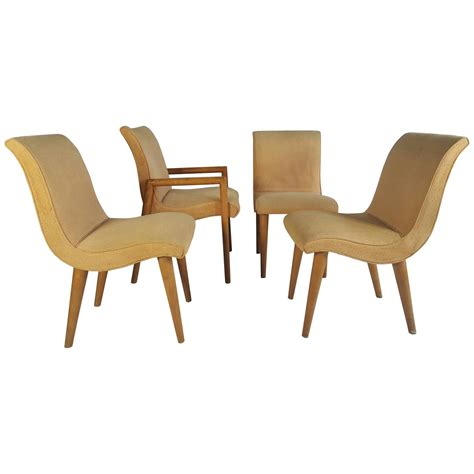 Conant Chair by Set Of Four Russel Wright For Conant Dining Chairs