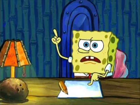 spongebob writing paper spongebob writing an essay to epic