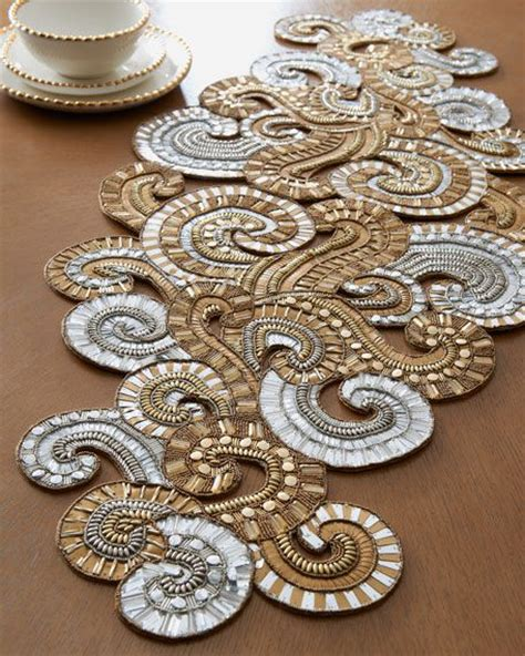 beaded table runner 17 best images about table centerpiece and tablerunners on