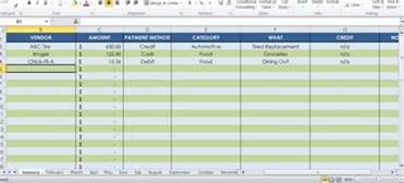 receipt tracker template send a 12 month receipt tracking spreadsheet