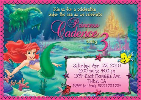 printable birthday invitations little mermaid printable little mermaid birthday by belladellacreations