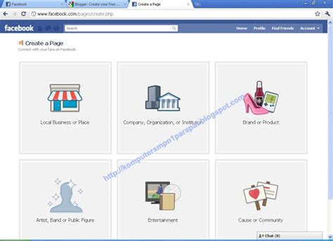 cara membuat fanpage online shop cara membuat fan pages di facebook laboratorium komputer