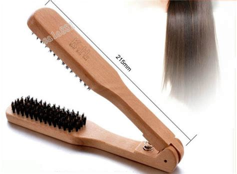 straightening hair brush ebay natural professional wooden straightening double brush