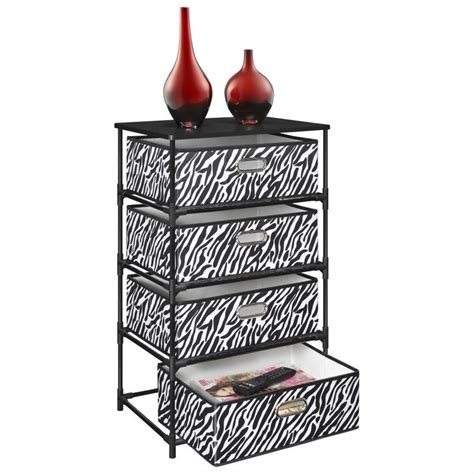 Zebra Print Table L Zebra Print Table L 4 Bin Storage End Table In Black And Zebra Print 7777096 Plastic Zebra