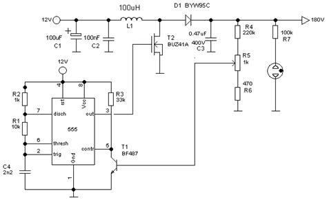 Inverter Lu Led Motor modificar esquema de dc dc converter 12v gt 180v para 12v