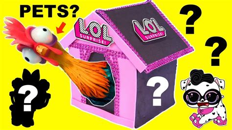 dog house game who s in the lol surprise pets dog house game surprise toys game youtube