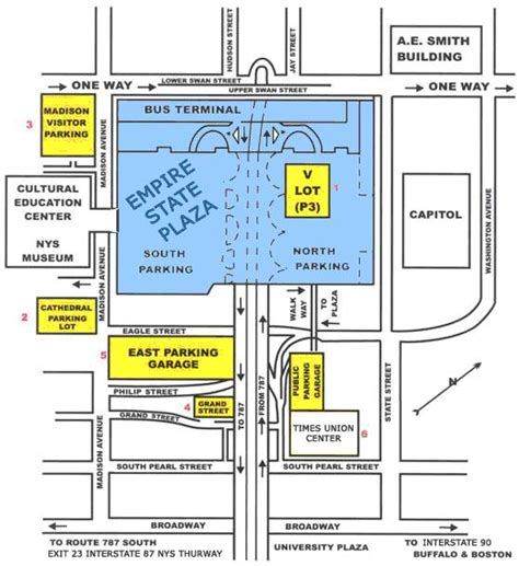 Us Capitol Building Floor Plan by Parking In And Around The Empire State Plaza New York