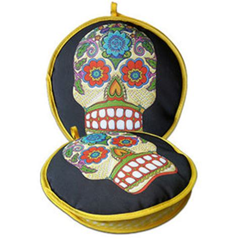 10 inch ceramic tortilla warmers day of the dead tortilla warmer
