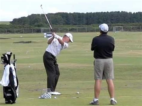 stricker golf swing steve stricker slow motion range turnberry open 2009 youtube