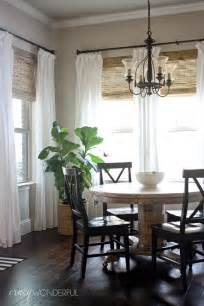 Kitchen Shades And Curtains by Crazy Wonderful Bamboo Roman Shades