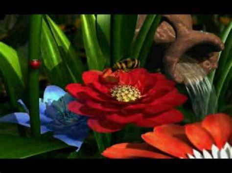 rosas en 3d jardin de flores 3d flv youtube