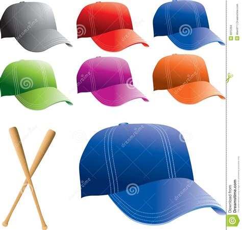 colored baseball hats stock images image 8915394