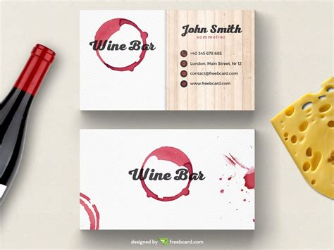 wine card template wine bar business card template freebcard
