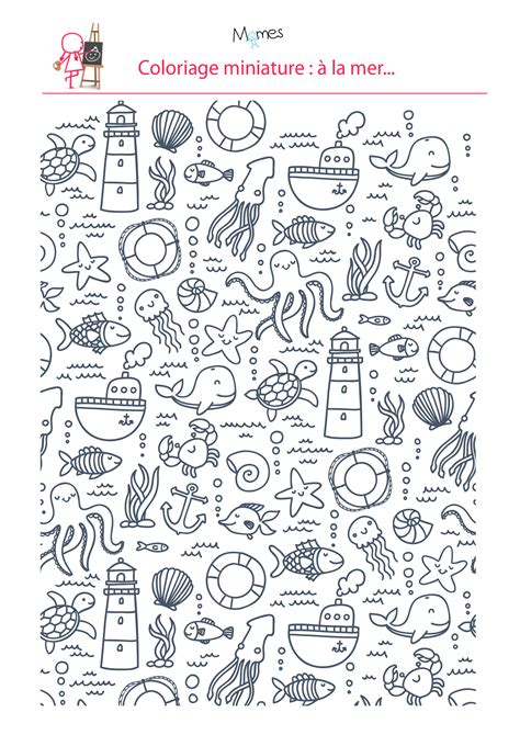 doodle draw theme coloriage 224 la mer doodles and bullet