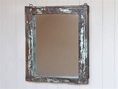 distressed wall mirror wooden mirrors scaramanga