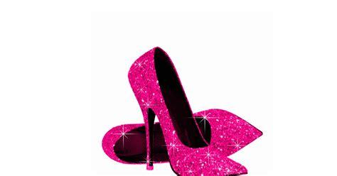 pink glitter high heel shoes zazzle