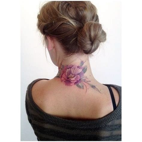 tattoo flower neck pink flower neck tattoo
