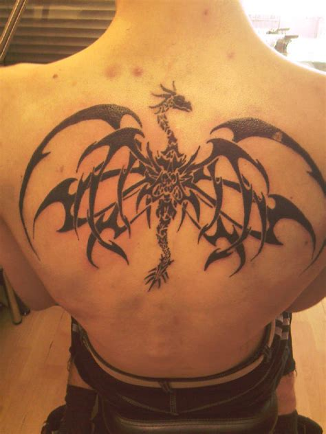 dragon back tattoos for men picture inspiration cool amazing tribal