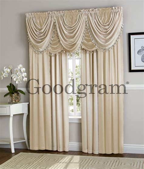 waterfall curtain valance hilton curtain waterfall fringed single valance only